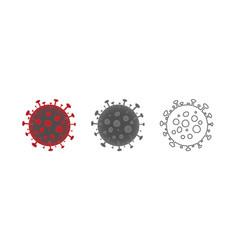 corona virus isolated on a white background vector image