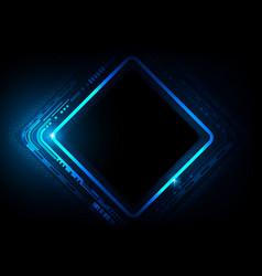 digital technology futuristic blue background vector image