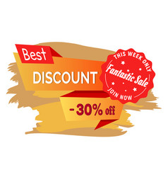 Discount on fashion sale this week only 30 percent vector