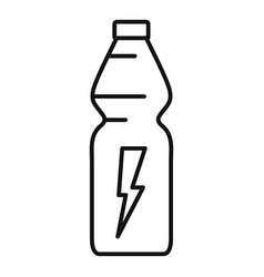 energy drink container icon outline style vector image