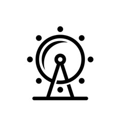 Ferris wheel icon line solid and filled outline vector
