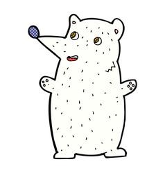 Funny comic cartoon polar bear vector