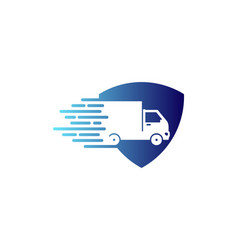 guard delivery logo icon design vector image