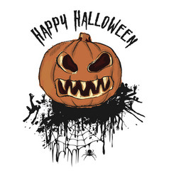 halloween party hand drawn of pumpkin isolated vector image
