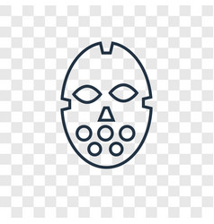 hockey mask concept linear icon isolated on vector image