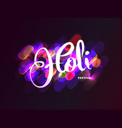 holi indian festival of colors background vector image