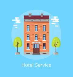 hotel service poster vector image