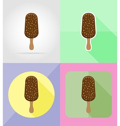 ice cream flat icons 02 vector image