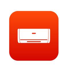 Internal unit air conditioner icon digital red vector