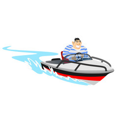Jet ski water extreme sports isolated design vector