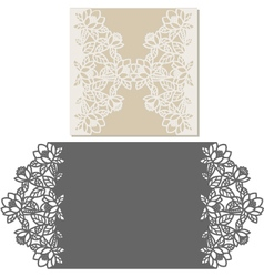 Laser cut envelope template for invitation wedding vector