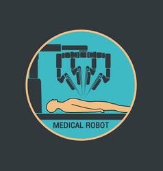medical robot icon vector image