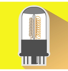 monochrome icon set with radio tubes vector image