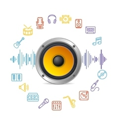 Music Icon Concept vector