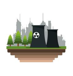 Nuclear plant icon vector