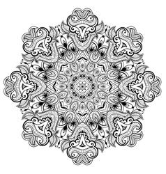 Ornamental round lace pattern is like mandala 1 vector image