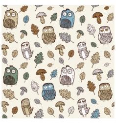 Owl pattern vector