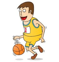 Playing basketball vector