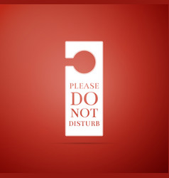 Please do not disturb icon on red background vector