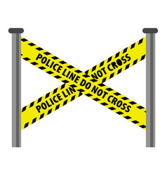 Police line icon cartoon style vector