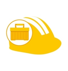Portable tool box helmet icon vector