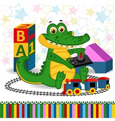 Rocodile railroad vector