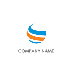 Round sphere curve company logo vector