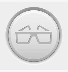 round white button 3d glasses icon vector image