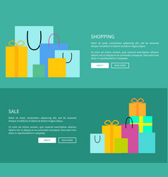 set of two web-pages shopping vector image
