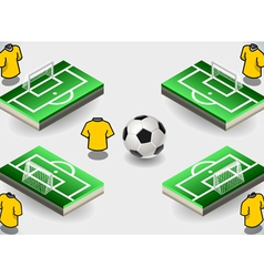 Set soccer penalty area and icons vector