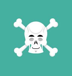 skull and bone sleeps emoji skeleton head asleep vector image