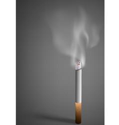 Smoldering cigarette with a smoke vector