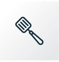 spatula icon line symbol premium quality isolated vector image