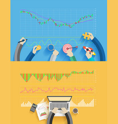 stock analysis business success creative ideas vector image