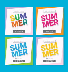 Summer sale template banner vector