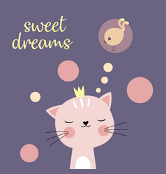 sweet dreams cat vector image