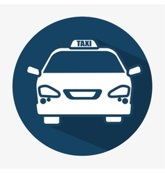 Taxi car transport public shadow icon vector