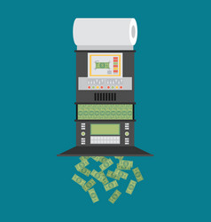 The machine makes dollar bills the financial vector