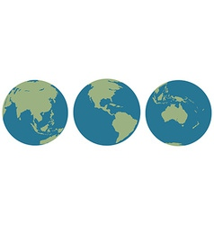 Three images of Earth vector image
