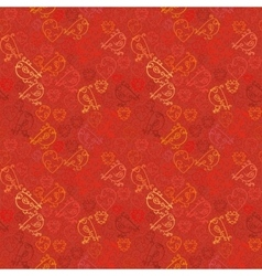 Valentine background Seamless pattern with hearts vector image