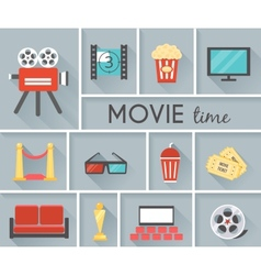 Conceptual Movie Time Graphic Design vector image vector image