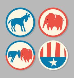 democrat donkey republican elephant designs vector image