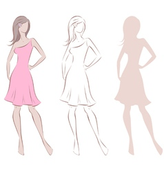 Female figure vector image vector image