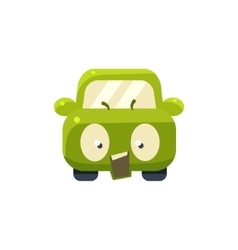 Outraged Green Car Emoji vector image vector image