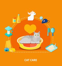 pet care concept vector image