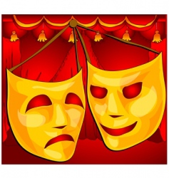 theatre masks vector image