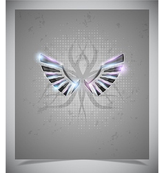 Abstraction grey background with wings vector image vector image