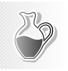 amphora sign new year blackish icon on vector image