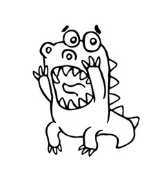 Cartoon screaming dragon vector