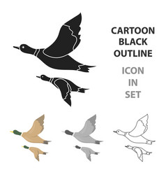 ducks icon in cartoon style isolated on white vector image